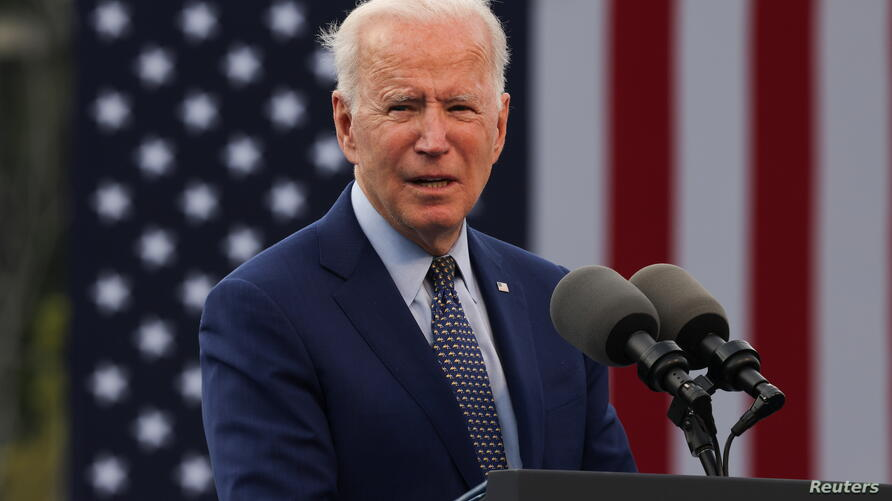 U.S. President Biden attends drive-in car rally in Duluth, Georgia