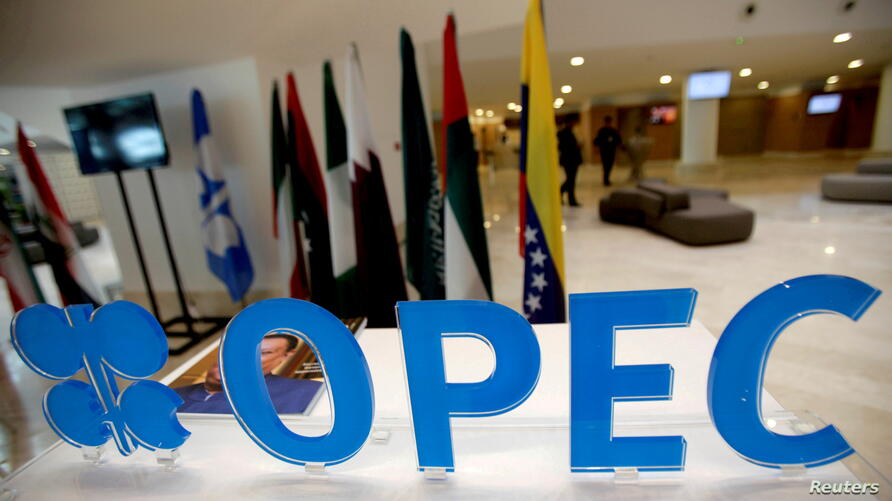 FILE PHOTO: The OPEC logo pictured ahead of an informal meeting between members of the Organization of the Petroleum Exporting Countries (OPEC) in Algiers