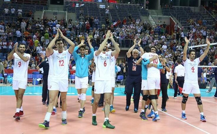 Iran volleyball national team won Italy in volleyball world cup