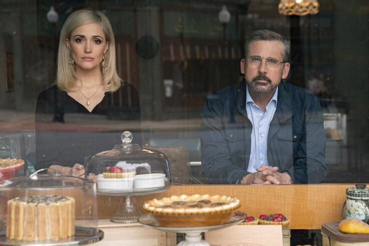 Steve Carell and Rose Byrne in Irresistible by Jon Stewart