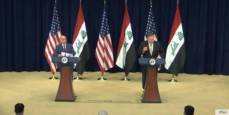 Pompeo holds a joint press availability with Iraqi Foreign Minister Fuad Hussein