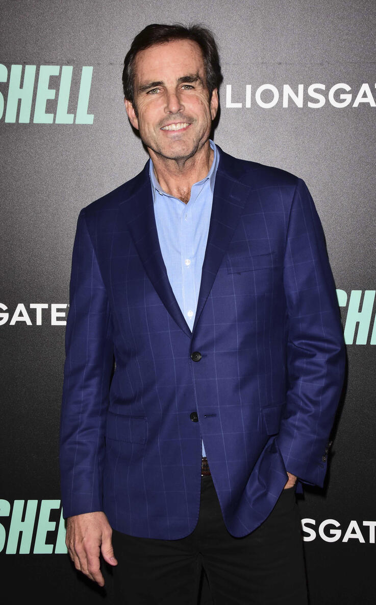 """Photo by: Patricia Schlein/STAR MAX/IPx 2019 12/16/19 Bob Woodruff at the premiere of """"Bombshell"""" in New York City."""