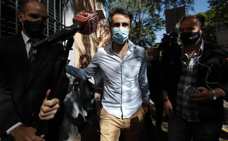 Neurologist Leopoldo Luque, former Diego Maradona's personal doctor, arrives to the prosecutor's office in Buenos Aires,…