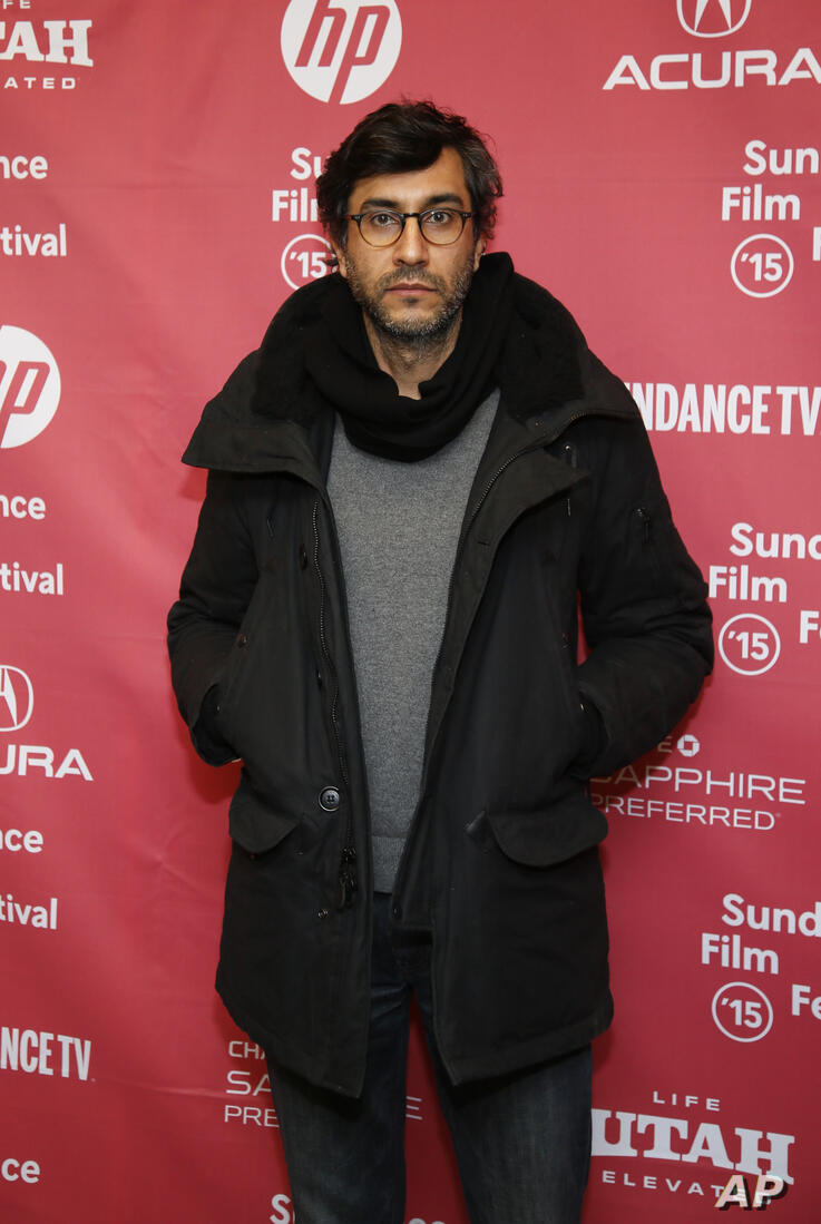 """Director Ramin Bahrani poses at the premiere of """"99 Homes"""" during the 2015 Sundance Film Festival on Sunday, Jan. 25, 2015, in…"""
