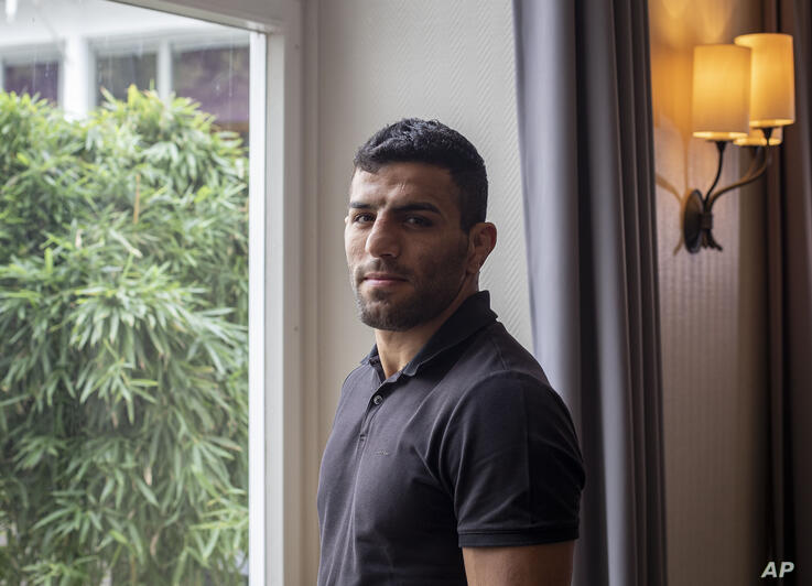 In this photo taken Sept. 12, 2019, Iranian judoka Saeid Mollaei poses for a portrait photo at an undisclosed southern city of…
