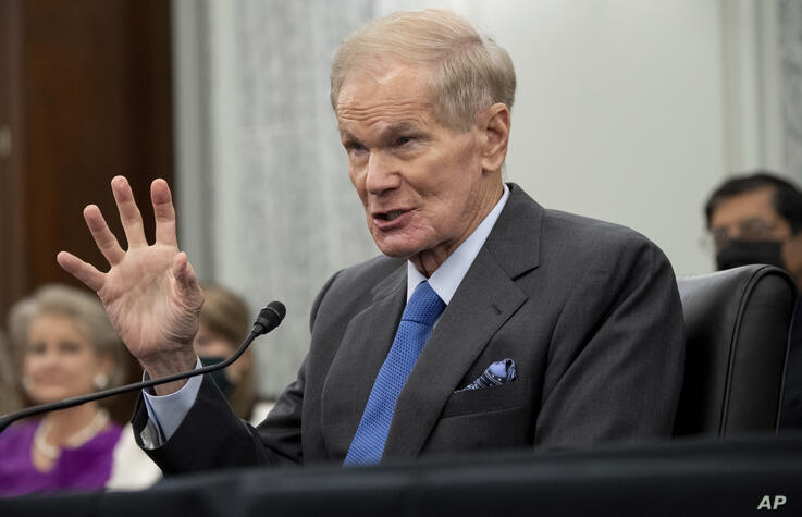 Former Sen. Bill Nelson, nominee to be administrator of NASA, speaks during a Senate Committee on Commerce, Science, and…