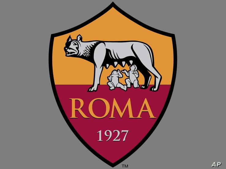 AS ROMA logo, Italian soccer club, graphic element on gray