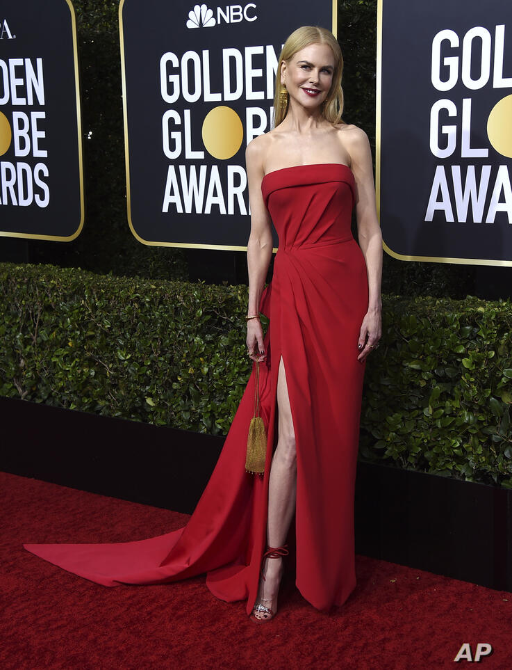 Nicole Kidman arrives at the 77th annual Golden Globe Awards at the Beverly Hilton Hotel on Sunday, Jan. 5, 2020, in Beverly…