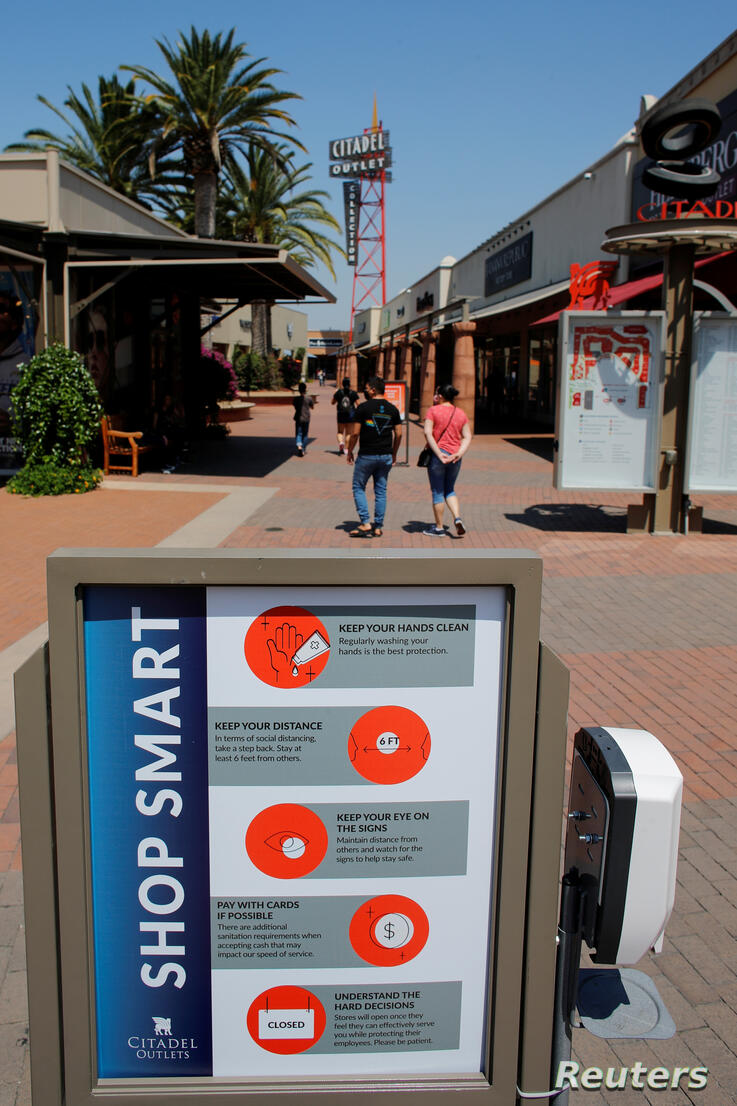 FILE PHOTO: Shopping malls reopen during COVID-19 outbreak in California