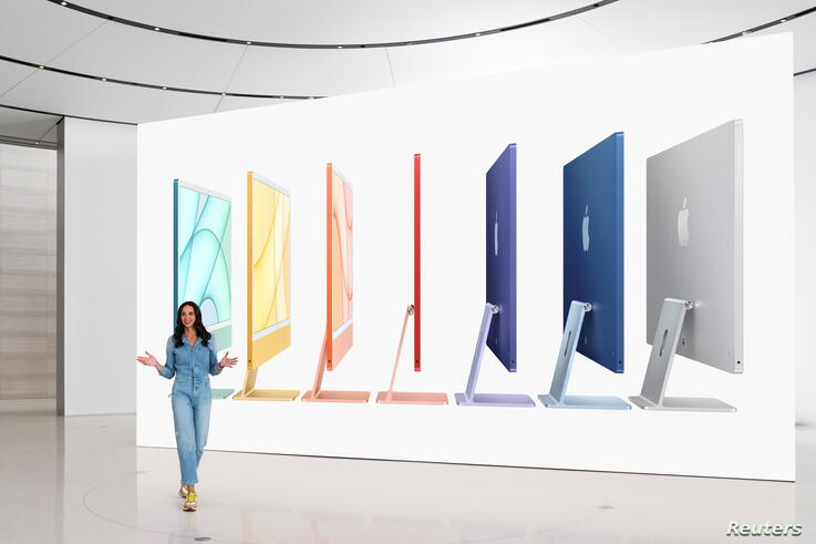 Apple's Colleen Novielli introduces the all-new iMac lineup in Cupertino