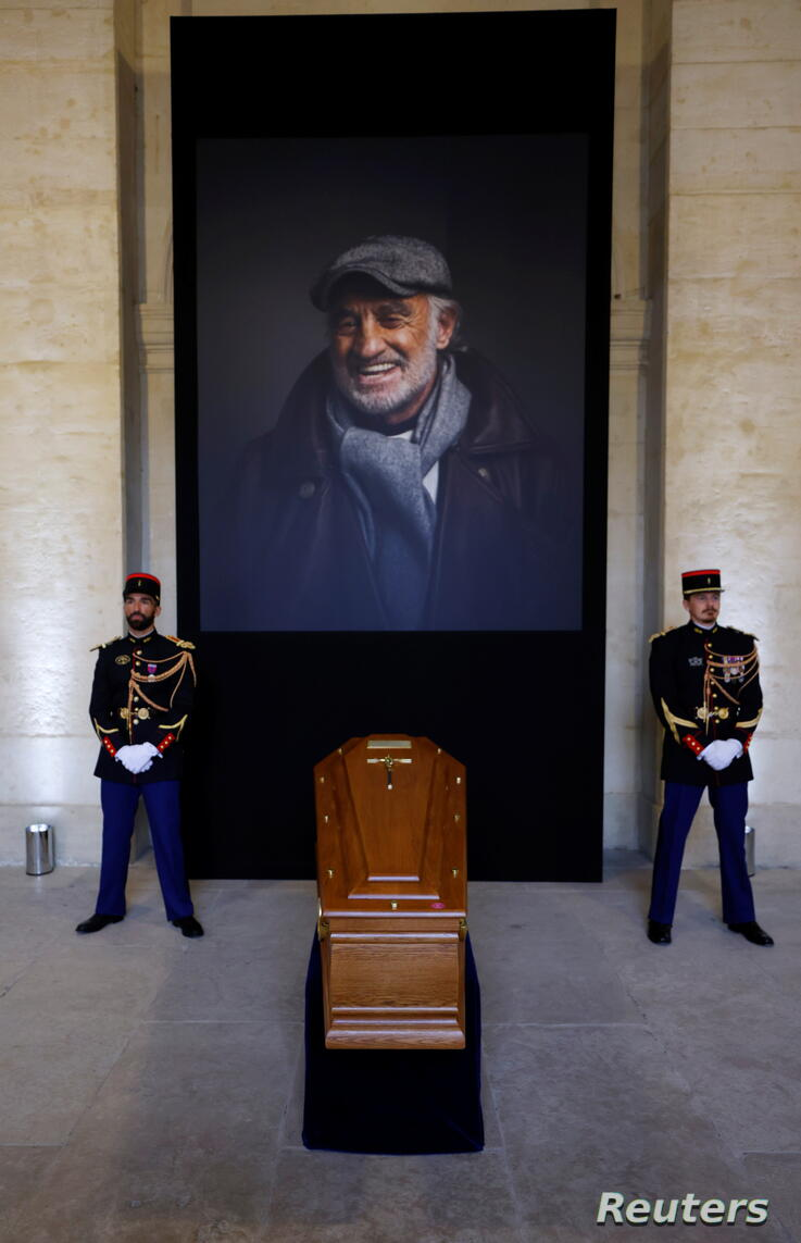 France pays national tribute to famed actor Jean-Paul Belmondo