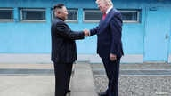 U.S. President Donald Trump shakes hands with North Korean leader Kim Jong Un as they meet at the demilitarized zone separating… FILE - U.S. President Donald Trump shakes hands with North Korean leader Kim Jong Un as they meet at the demilitarized zone separating the two Koreas, in Panmunjom, South Korea, June 30, 2019.