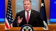 Secretary of State Mike Pompeo speaks during a news conference at the State Department in Washington, Wednesday, Oct. 21, 2020…