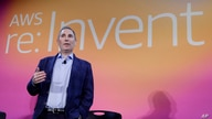FILE - In this Dec. 5, 2019, file photo, AWS CEO Andy Jassy, discusses a new initiative with the NFL during AWS re:Invent 2019…