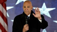 """FILE - This photo from Thursday Jan. 19, 2017, shows Inaugural Committee chairman Tom Barrack speaks at a pre-Inaugural """"Make…"""