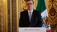 Mexican Foreign Minister Marcelo Ebrard speaks during a ceremony in Paris, Thursday, July, 1, 2021. France and Mexico signed an…