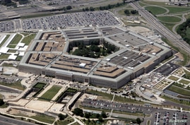 An aerial view of the Pentagon building in Washington, June 15, 2005. U.S. Defense Secretary Donald Rumsfeld defended the…