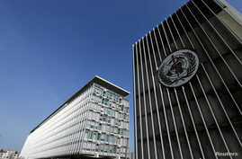 FILE PHOTO: The headquarters of the World Health Organization (WHO) is pictured in Geneva, Switzerland, March 22, 2016. To…