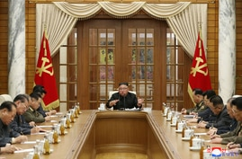 This picture taken on November 29, 2020 and released from North Korea's official Korean Central News Agency (KCNA) on November…