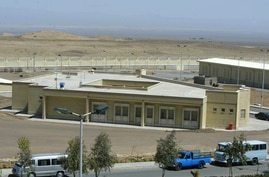(FILES) In this file photo taken on March 30, 2005 the Iranian nuclear research centre of Natanz, is pictured 270 kms south of…