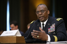 WASHINGTON, DC - SEPTEMBER 16: Gen. Lloyd Austin III, commander of U.S. Central Command, testifies before the Senate Armed…