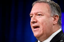 Secretary of State Mike Pompeo speaks about Iran, Tuesday Jan. 7, 2020, at the State Department in Washington. (AP Photo…