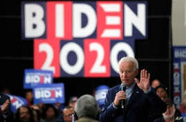 Democratic presidential candidate former Vice President Joe Biden speaks at a campaign event in Sumter, S.C., Friday, Feb. 28,…