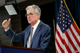 Federal Reserve Chair Jerome Powell speaks during a news conference, Tuesday, March 3, 2020, to discuss an announcement from…