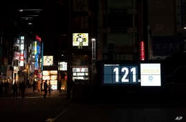 A countdown display shows the remaining days until the Tokyo 2020 Olympics in Tokyo, Wednesday, March 25, 2020. IOC President…