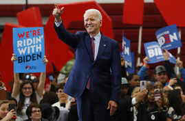 FILE - In this March 9, 2020, file photo Democratic presidential candidate former Vice President Joe Biden speaks during a…