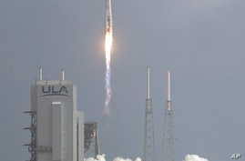 A United Launch Alliance Atlas V rocket stands lifts off from Launch Complex 41 at the Cape Canaveral Air Force Station, Sunday…