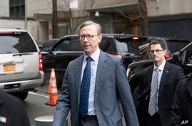 Brian Hook, the U.S. envoy to Iran, arrives at the U.S. mission to the United Nations to attend a luncheon for members of the…