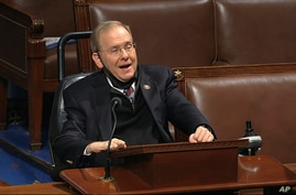 In this image from video, Rep. James Langevin, D-R.I., speaks on the floor of the House of Representatives at the U.S. Capitol…