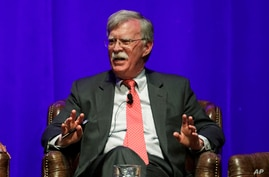Former national security adviser John Bolton takes part in a discussion on global leadership at Vanderbilt University Wednesday…