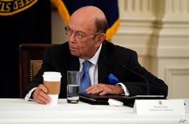 Commerce Secretary Wilbur Ross listens as President Donald Trump speaks during a Cabinet Meeting in the East Room of the White…