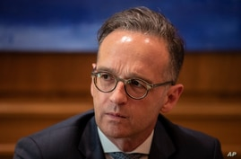 German Foreign Minister Heiko Maas, during a meeting with Greek Prime minister Kyriakos Mitsotakis in Athens, on Tuesday, July…