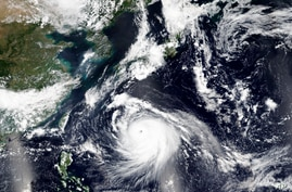 This Friday, Sept. 4, 2020, satellite image released by NASA Worldview, Earth Observing System Data and Information System …