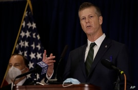 David L. Anderson, U.S. Attorney for the Northern District of California, speaks during a news conference Tuesday, June 16,…
