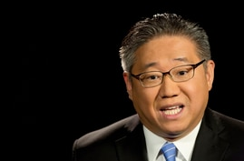 Kenneth Bae, a U.S. citizen who was detained in North Korea for two years, talks during an interview, Monday, May 2, 2016, in…
