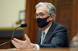 Federal Reserve Chairman Jerome Powell testifies before a House Financial Services Committee hearing on Capitol Hill in…