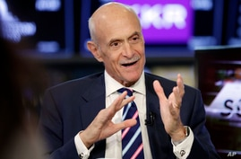 Michael Chertoff, the former U.S. Secretary of Homeland Security, is interviewed on the floor of the New York Stock Exchange,…