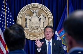 New York Gov. Andrew Cuomo speaks during a news conference, Wednesday, June 23, 2021, in New York. (AP Photo/Mary Altaffer)