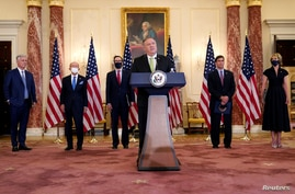 U.S. Secretary of State Mike Pompeo holds a news conference in Washington