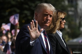 U.S. President Trump and first lady departs for the presidential debate, in Washington