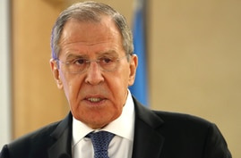 FILE PHOTO: Russian FM Lavrov attends the Human Rights Council at the United Nations in Geneva