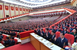 Attendees at the first day of the 8th Congress of the Workers' Party in Pyongyang