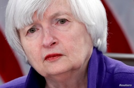 FILE PHOTO: Yellen holds a news conference in Washington
