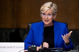 FILE PHOTO: Former Michigan Governor Jennifer Granholm testifies before the Senate Energy and Natural Resources Committee in Washington
