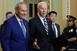 U.S. President Biden attends luncheon with Senate Democrats at the Capitol in Washington
