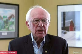 Democratic U.S. Presidential candidate Senator Bernie Sanders announces to supporters that he is suspending his campaign for…